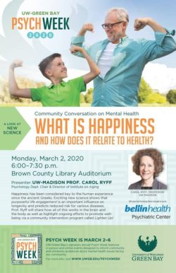What is Happiness and How Does It Relate to Health? @ Brown County Central Library Auditorium | Green Bay | Wisconsin | United States